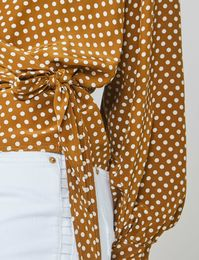 Summum Woman, Wrap blouse with polka dot