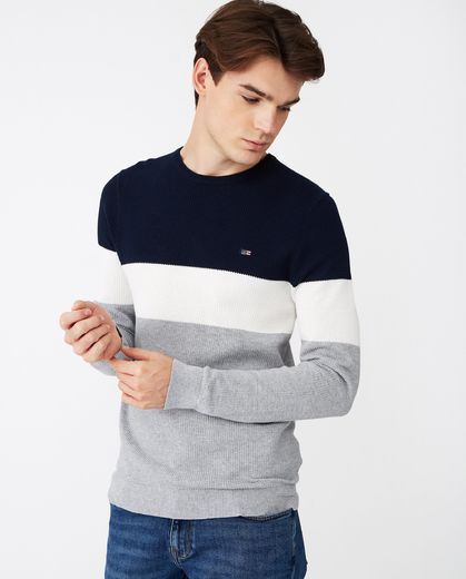 Lexington, Graham Sweater Blue Multi Stripe