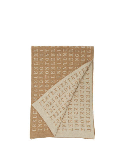 Lexington, Longwoods Knitted Scarf, Beige Multi