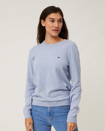 Lexington, Marline Organic Cotton Sweater, Light Blue Melange